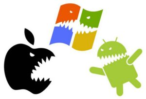 Os smartphone android ios et windows phone