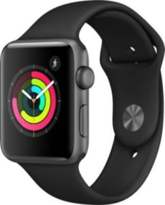 Montre connectée Apple Watch 42MM Alu Gris/Noir Series 3