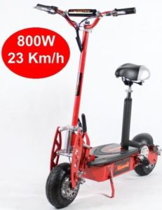 Trottinette Electrique E-Road 800W Rouge